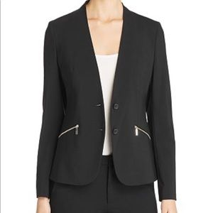 Hugo Boss Joleno Fundamental Zip-Pocket Blazer